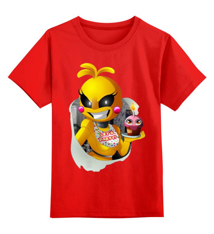 Купить 0000002925622, Детская футболка Printio Чика цв.красный р.104,