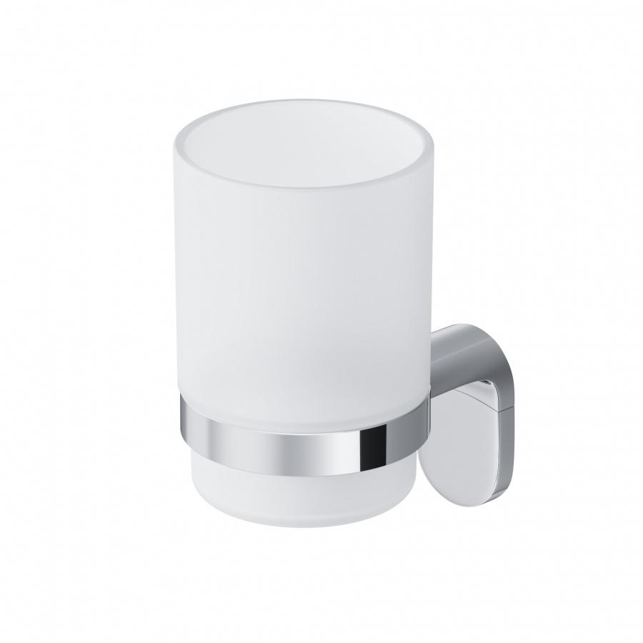 Стеклянный стакан с настенным держателем Joy A8434300