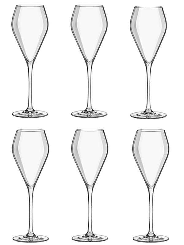 Набор бокалов флюте «Мод» хрустальное стекло