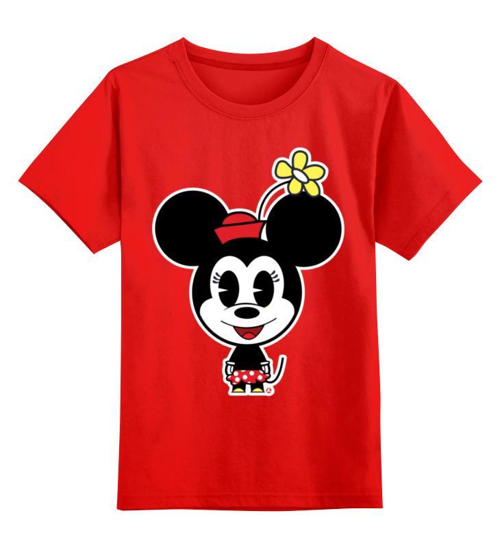Купить 0000002977731, Детская футболка Printio Мышка цв.красный р.104,