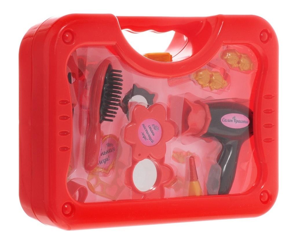 Купить Игровой набор Abtoys Салон красоты в чемоданчике, 16 предметов,