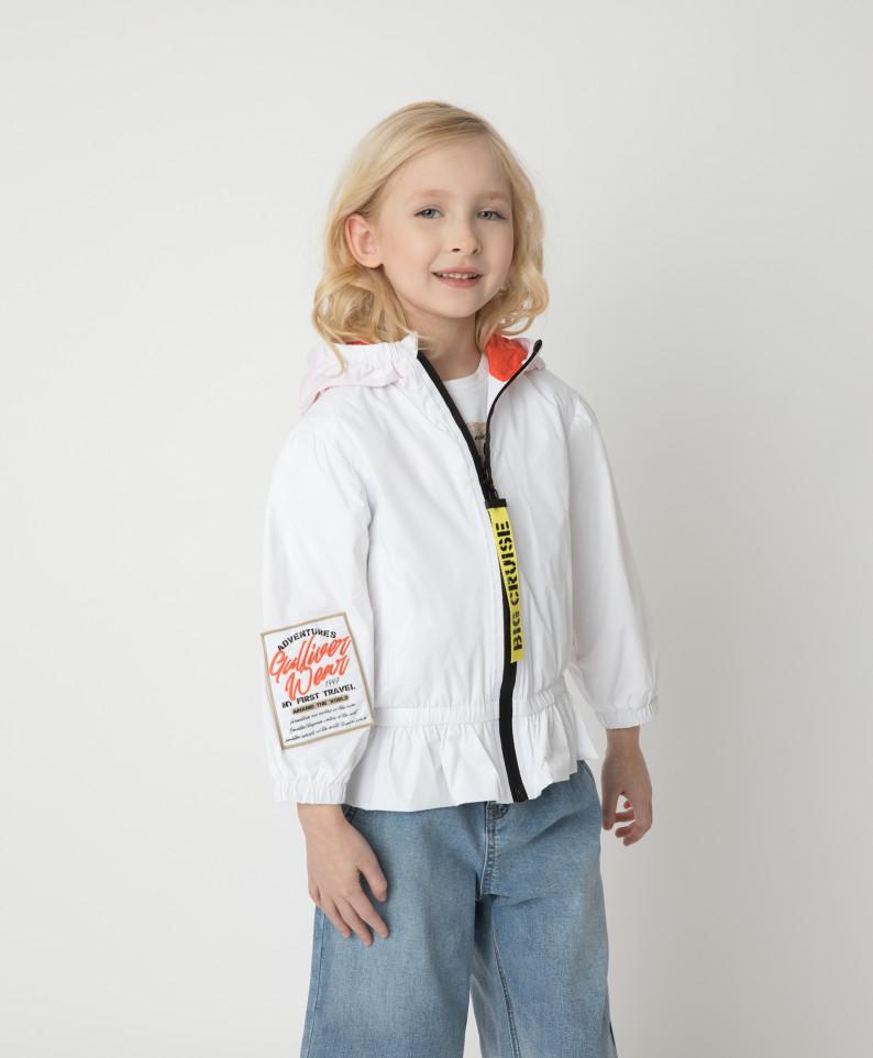 Купить 12102GMC4004, Ветровка Gulliver для девочек цв. белый р-р. 104,