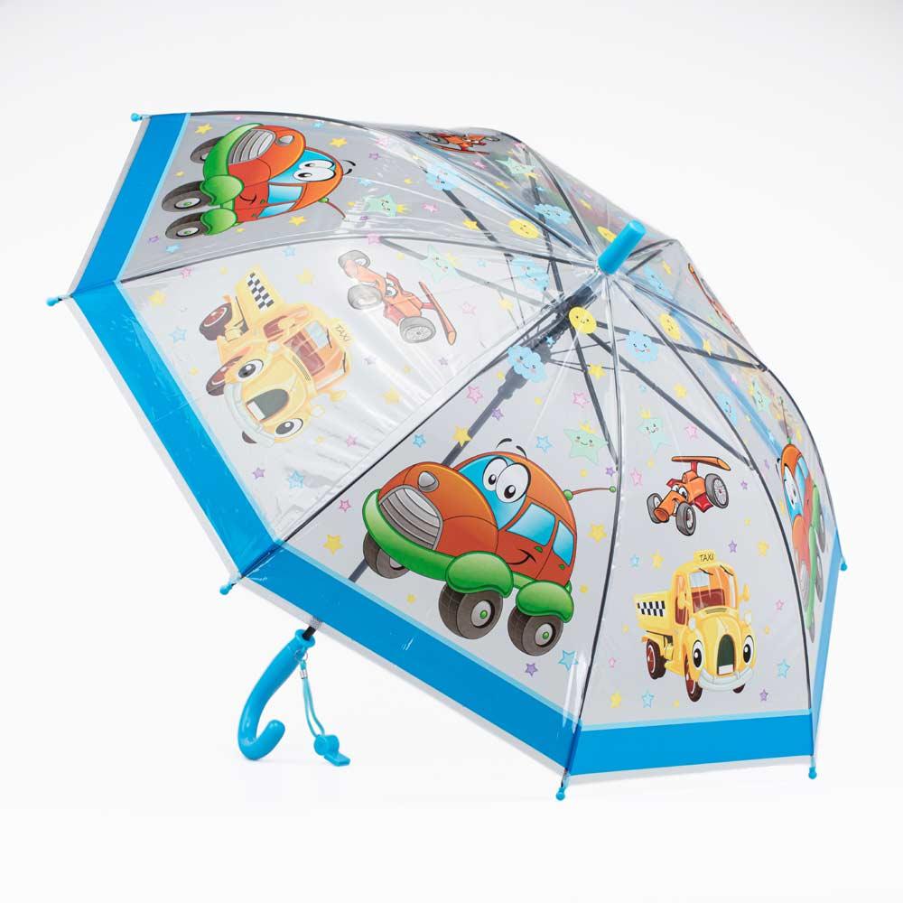 Зонт-трость Котофей 03707074-00 прозрачный
