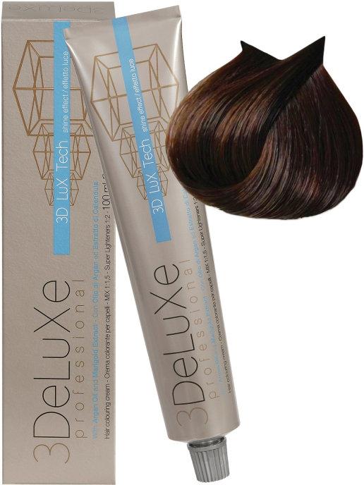Купить Крем-краска 3DELUXE Professional для волос 5.35 Светло-каштановый шоколадный, 100 мл