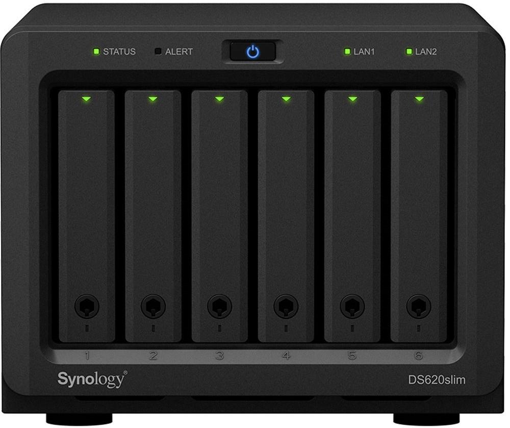 Сетевое хранилище данных Synology DS620slim Black