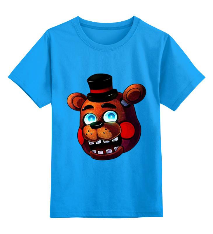 Купить 0000002925655, Детская футболка Printio Freddy цв.голубой р.164,