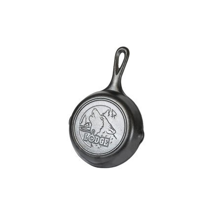 Lodge Сковорода круглая Wolf Logo Лого Волк,