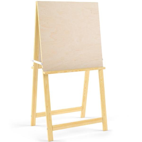 Мольберт Хлопушка 2-х сторонний, деревянный, напольный фото