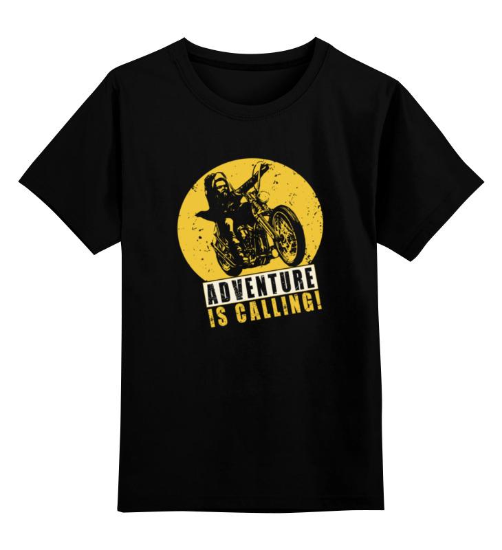 Детская футболка Printio Приключения зовут цв.черный р.164 0000002942300 по цене 990
