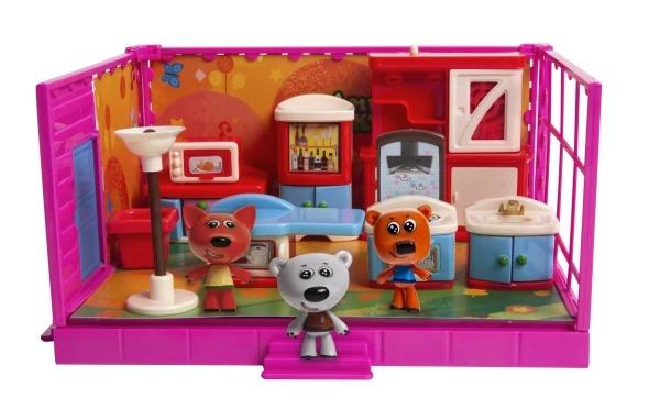 Игровой набор Ми-Ми-Мишки Кеша, Тучка и Лисичка Кухня, 12 деталей интерьера фото