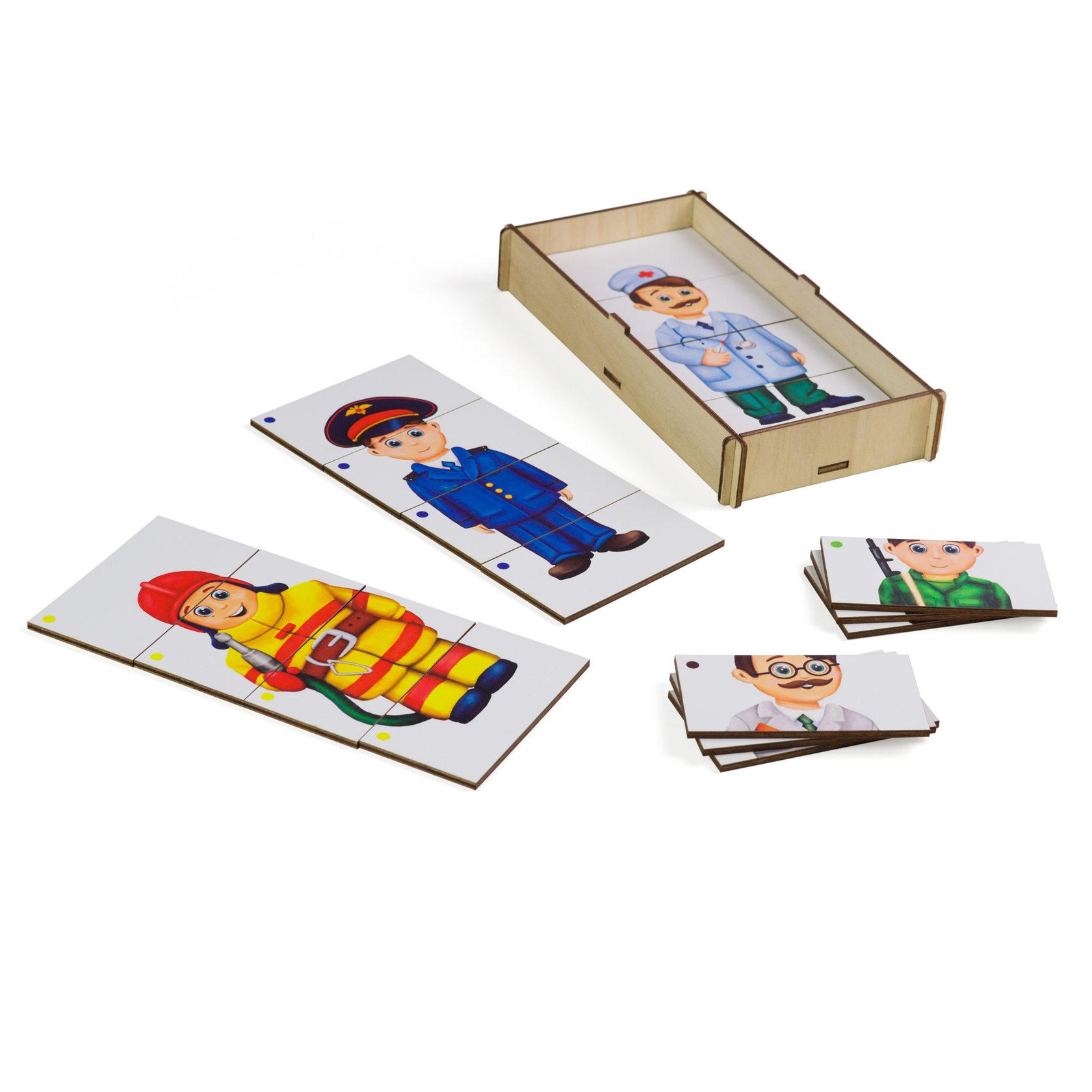 Игровой набор PAREMO Составные картинки. Профессии 2