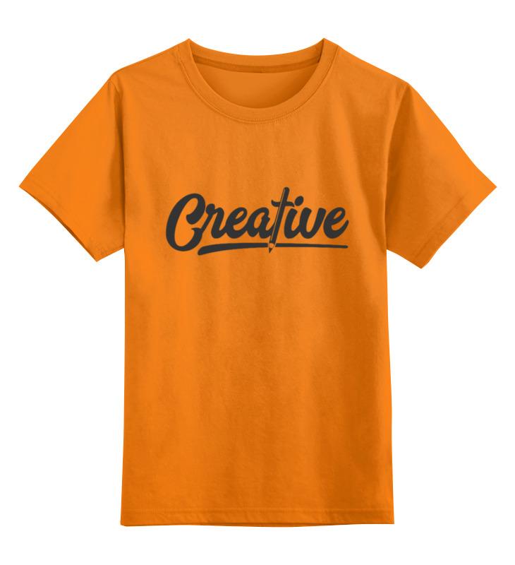 Детская футболка Printio Creative цв.оранжевый р.164 0000002933854 по цене 990