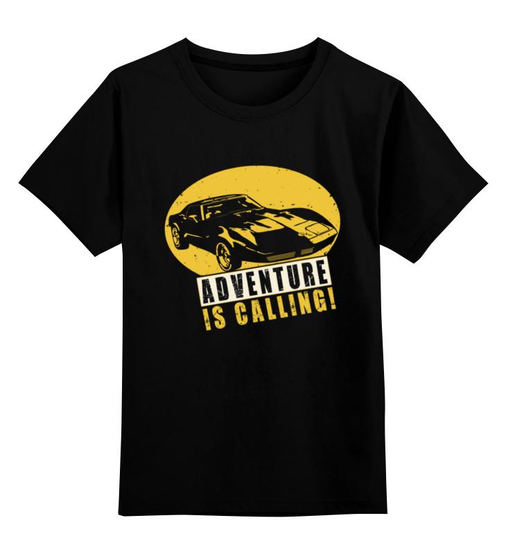 Детская футболка Printio Приключения зовут цв.черный р.164 0000002942381 по цене 990