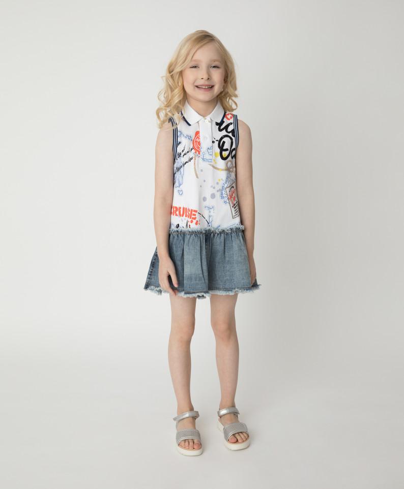 Купить 12102GMC5004, Платье Gulliver для девочек цв. разноцветный р-р. 104,