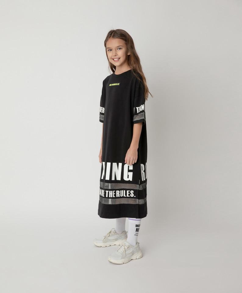 Купить 12109GJC5003, Платье Gulliver для девочек цв. черный р-р. 140,