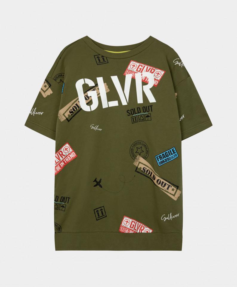 Купить 12108GJC5001, Платье Gulliver для девочек цв. хаки р-р. 140,