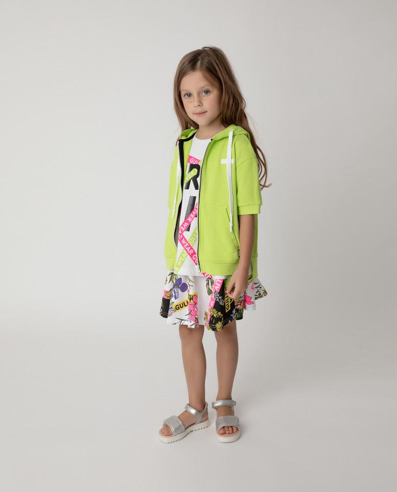 Купить 12103GMC1607, Толстовка Gulliver для девочек цв. зеленый р-р. 104,