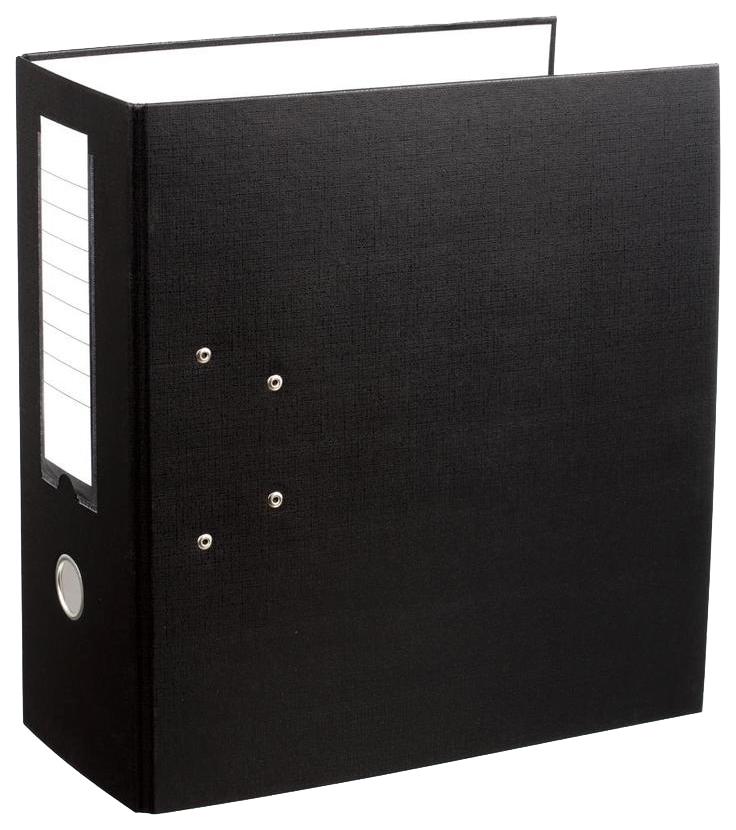 Папка-регистратор с арочным механизмом, А4, 125 мм, черная