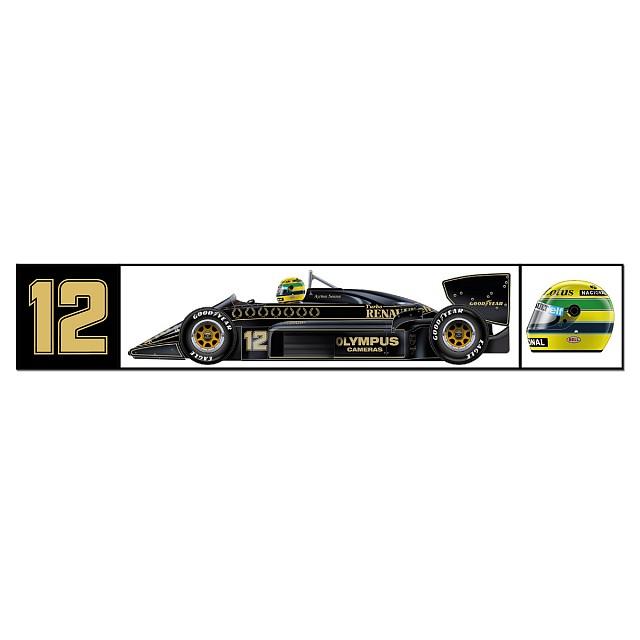 Наклейка Ayrton Senna Classic Team Lotus