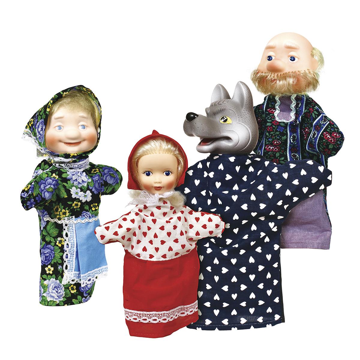 Кукольный театр Огонек Красная шапочка 4 персонажа С-1342