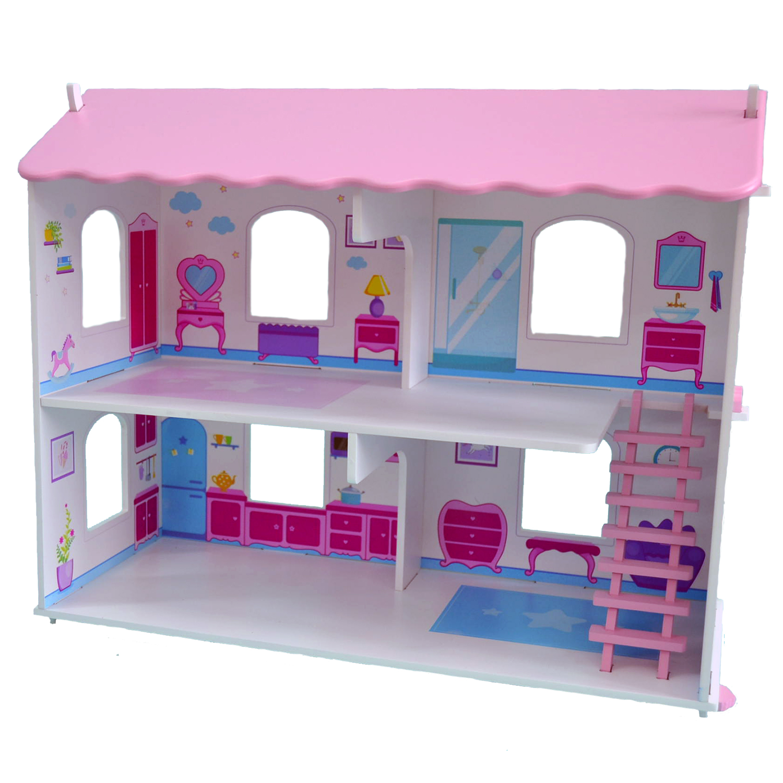 Кукольный дом Виктория с интерьером и мебелью