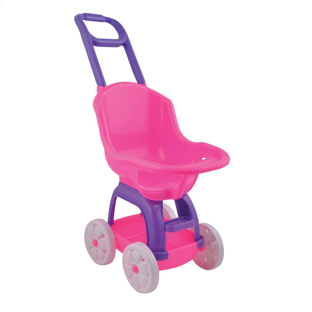 Прогулочная коляска для кукол с тележкой