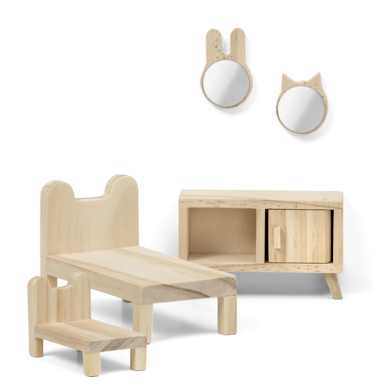 Набор деревянной мебели для домика Lundby Спальня