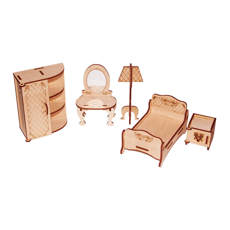 Мебель для кукол Спальня, конструктор PAREMO PDA420