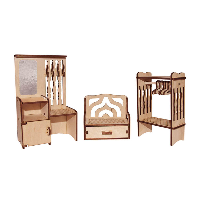 Мебель для кукол Прихожая, конструктор PAREMO PDA420-03