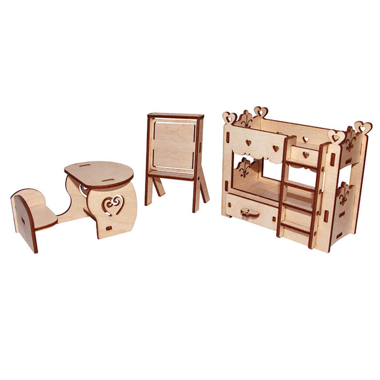 Мебель для кукол Школьный уголок, конструктор PAREMO PDA420-07