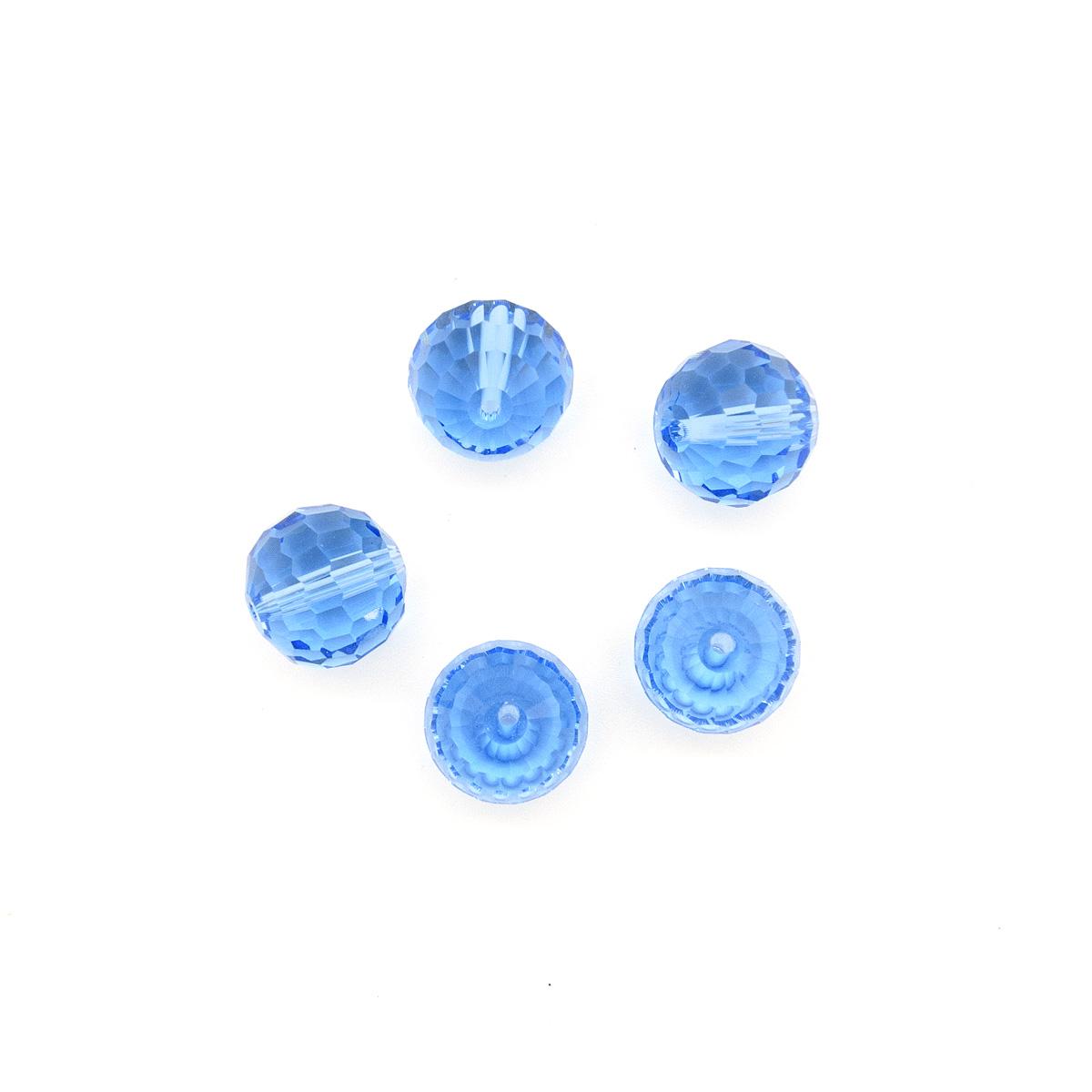 Бусины стеклянные Астра 15 mm, Z-490, 5 шт.,  - купить со скидкой