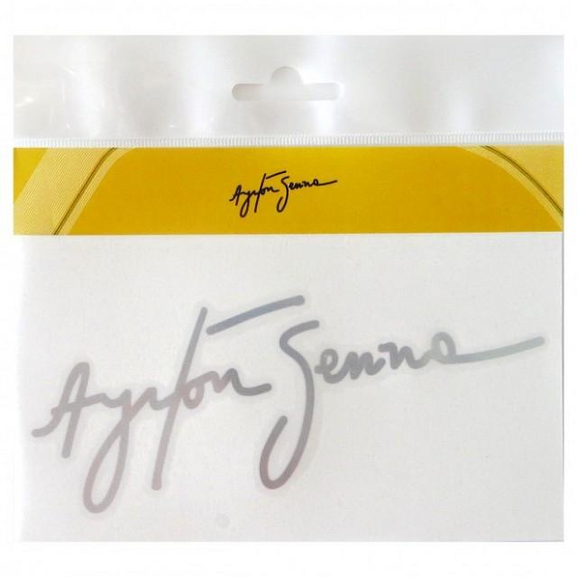 Наклейка Ayrton Senna Signature 3D White Racing