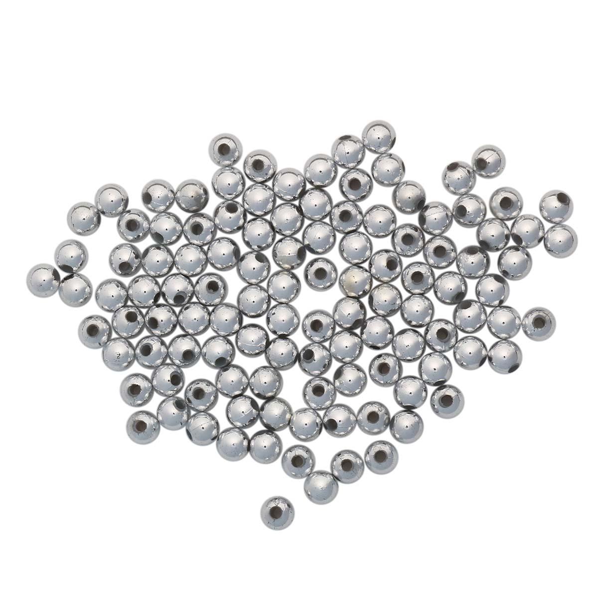 Купить Бусины металлизированные Астра пластик, 6 мм, 15г (130+/-10 шт.),