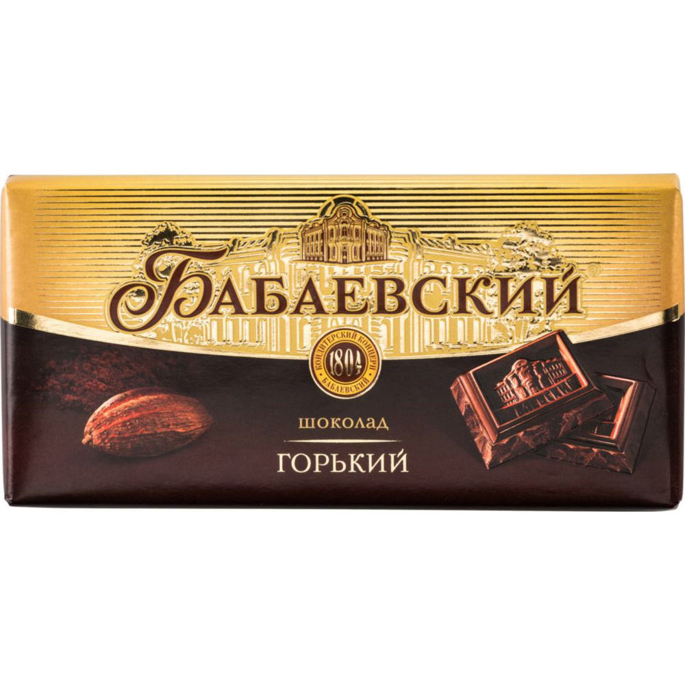 Шоколад Бабаевский горький 100 г фото