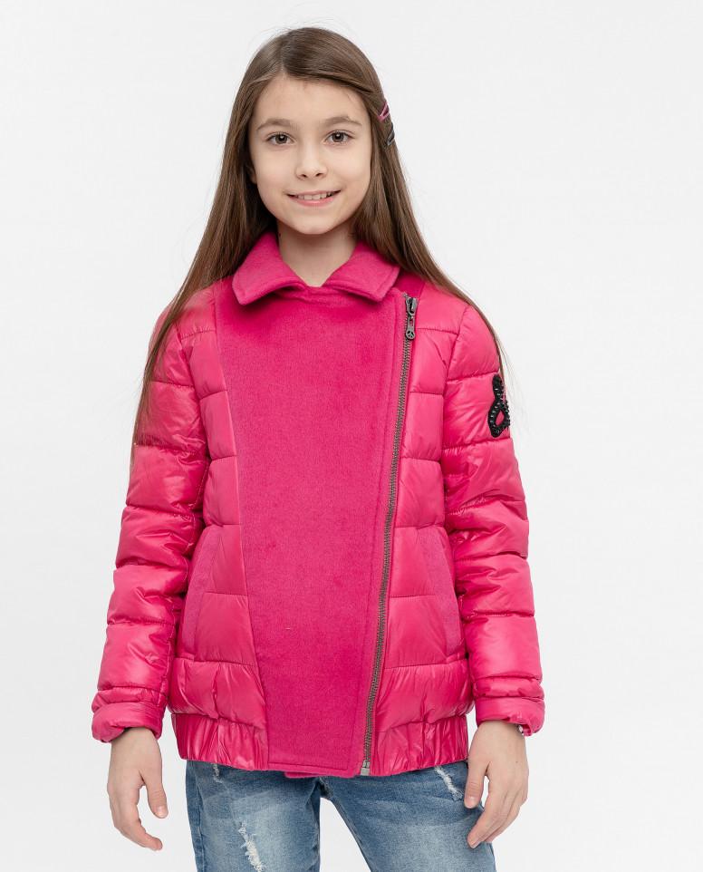 Купить 12007GJC4101, Куртка для девочек Gulliver, цв. розовый, р-р 140,