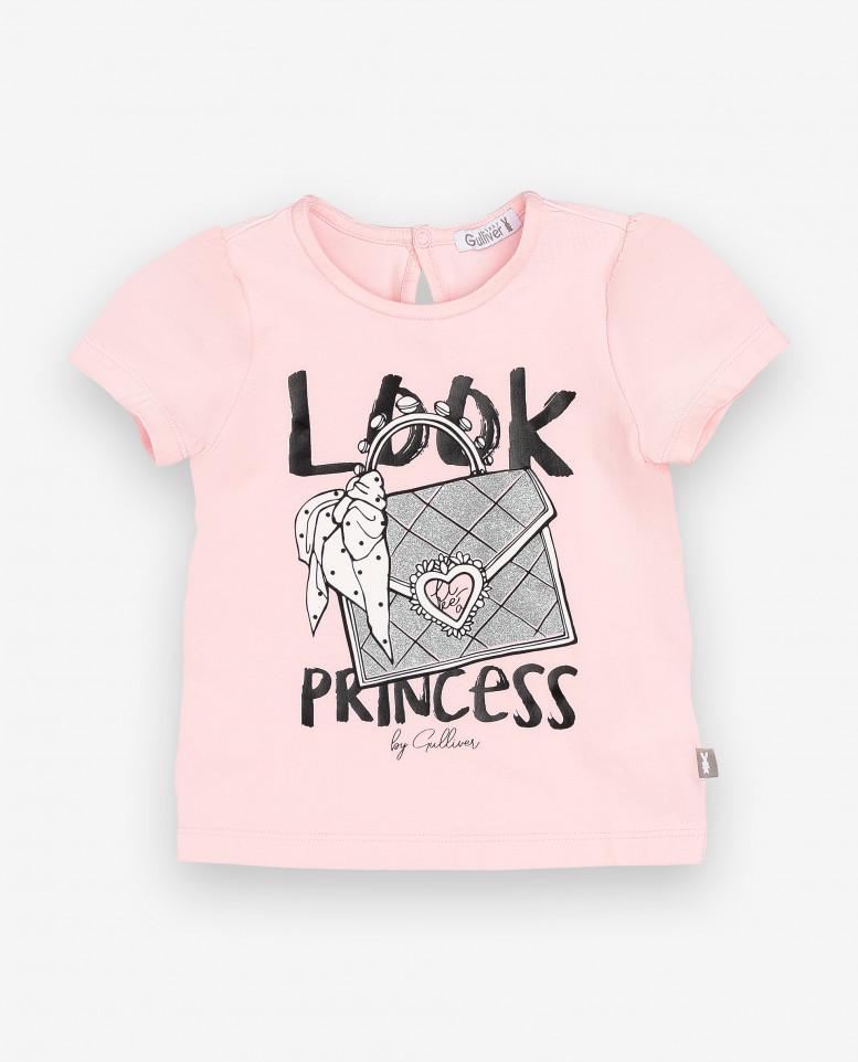 Купить 12031GBC1204, Футболка для девочек Gulliver, цв. розовый, р-р 86, Кофточки, футболки для новорожденных