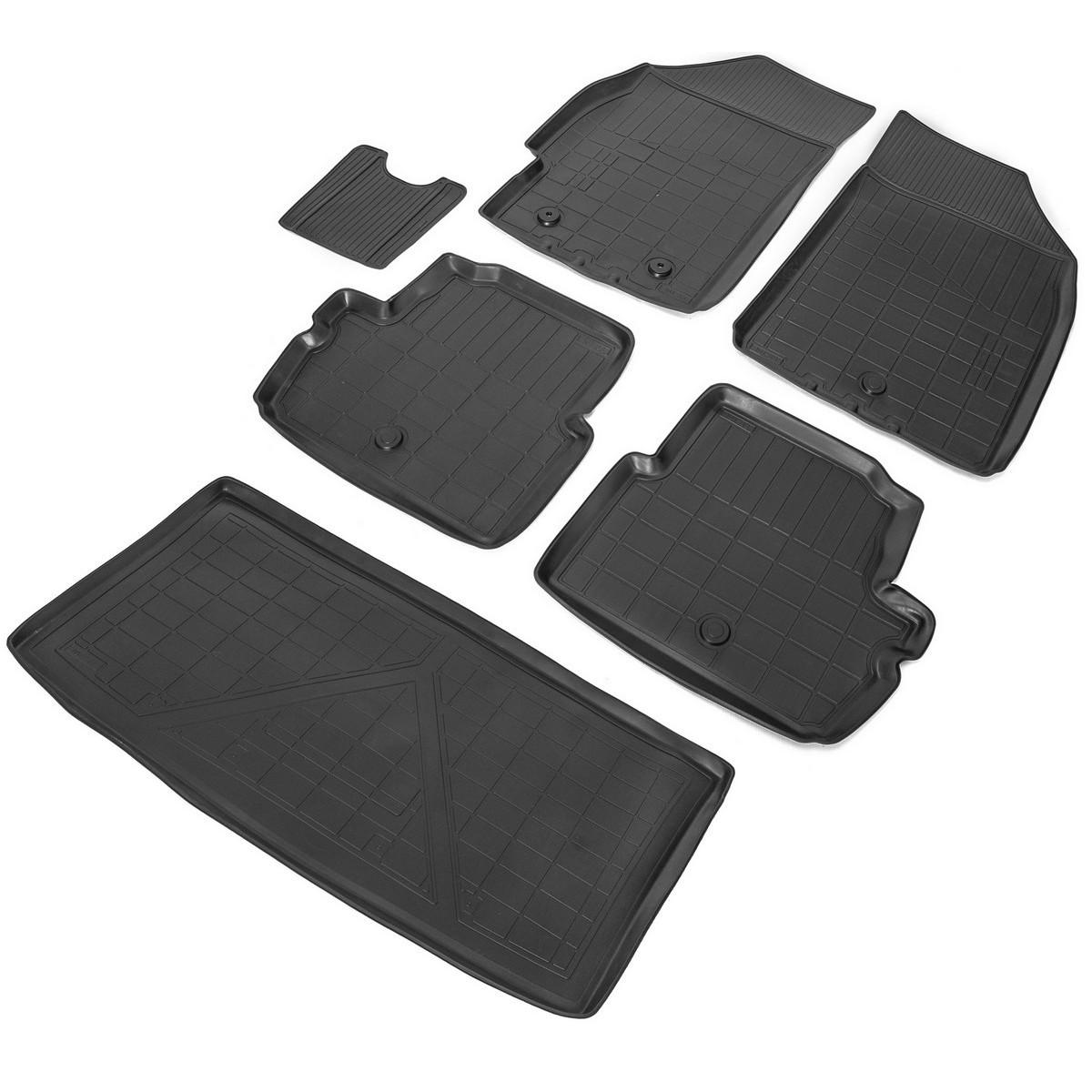 Комплект ковриков салона и багажника Rival Chevrolet Spark III хэтчбек /Ravon R2 хэтчбек,