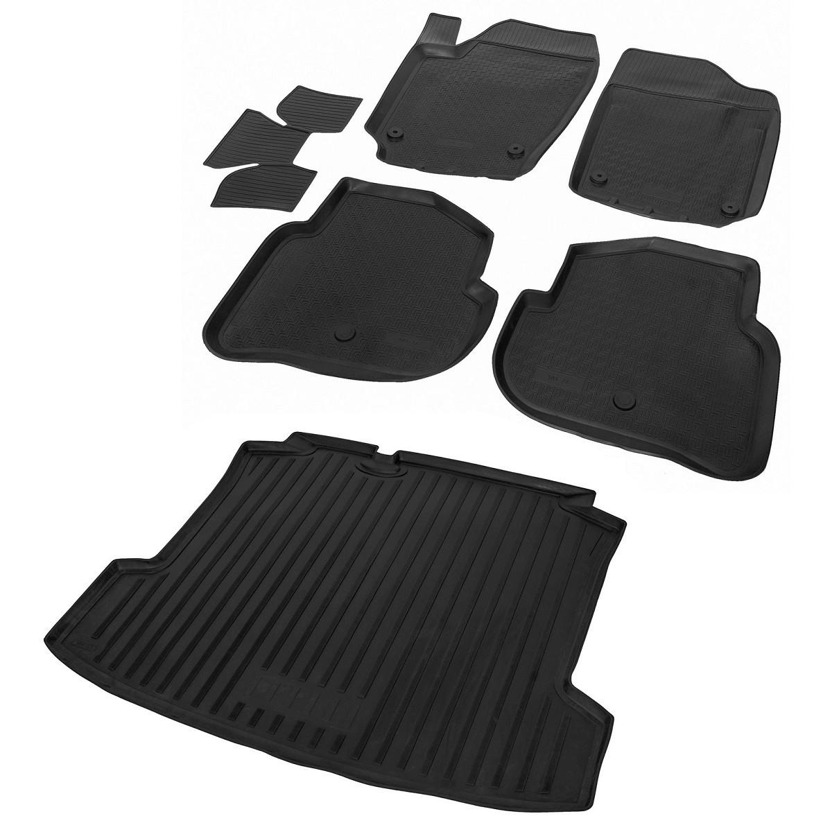 Комплект ковриков салона и багажника Rival Volkswagen Polo V