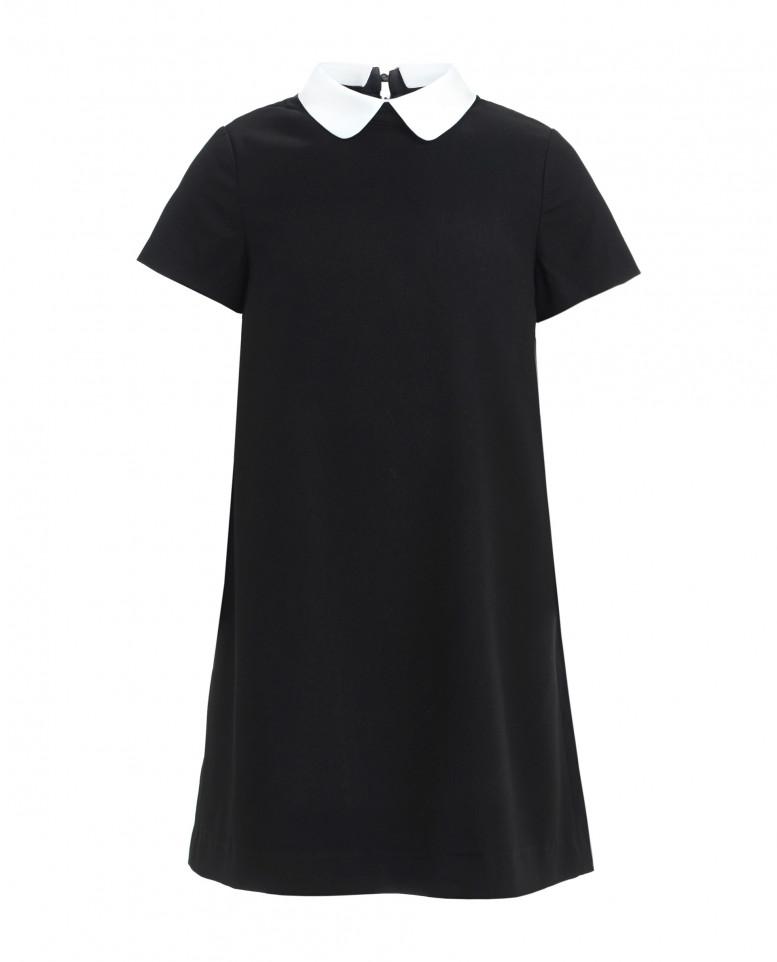 Купить 219GSGC2504, Платье со съемным воротничком для девочек Gulliver, цв. черный, р-р 164,