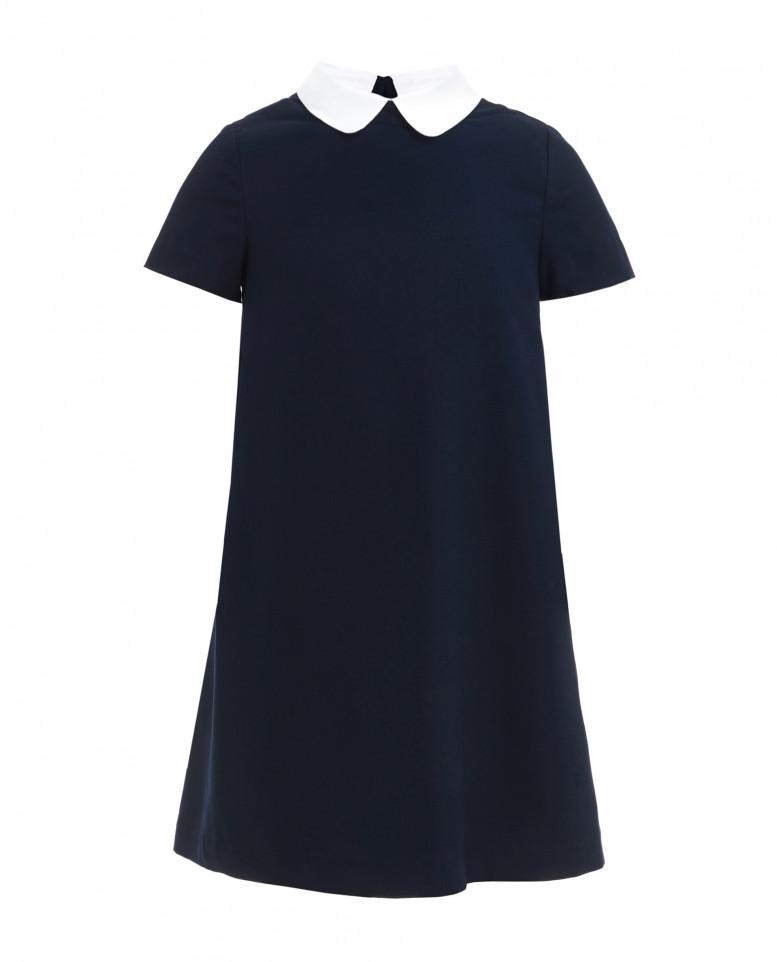 Платье со съемным воротничком для девочек Gulliver, цв. синий, р-р 170 219GSGC2505