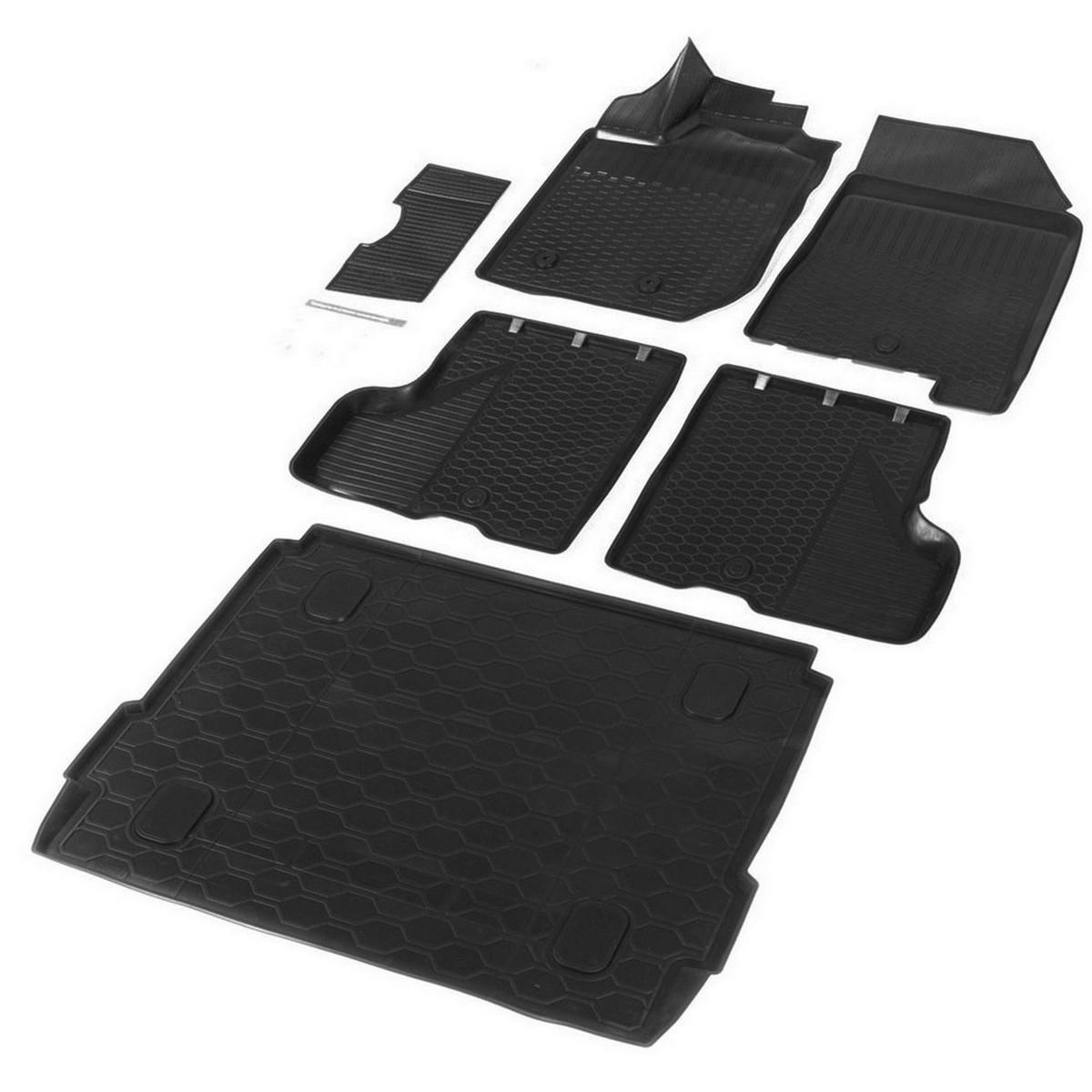 Комплект ковриков салона и багажника Rival Lada Xray хэтчбек /Xray Cross , полиуретан, с к