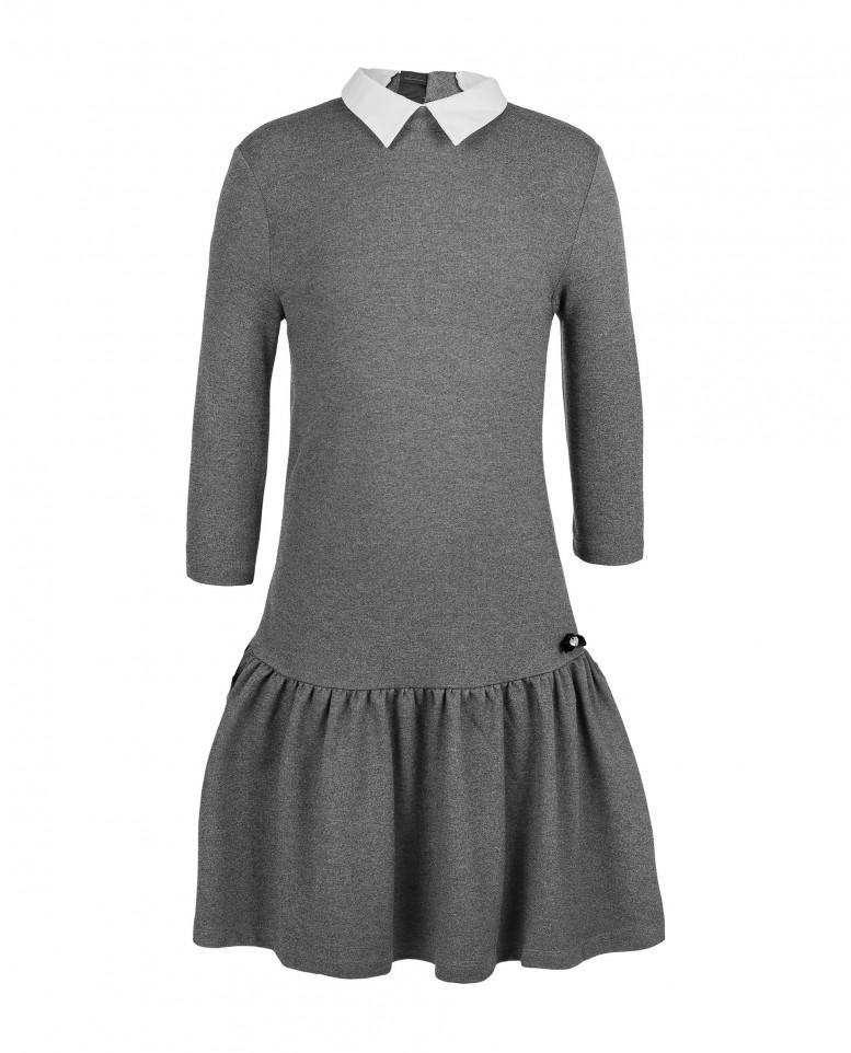 Купить 219GSGC5003, Платье для девочек Gulliver, цв. серый, р-р 164,