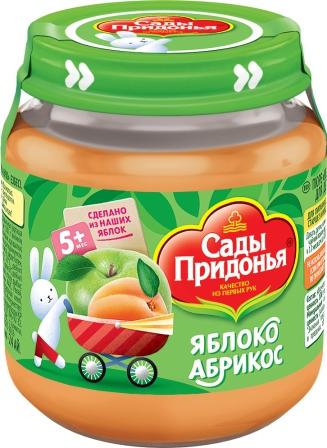 Пюре фруктовое Сады Придонья Яблоко-абрикос с 5 мес. 120 г