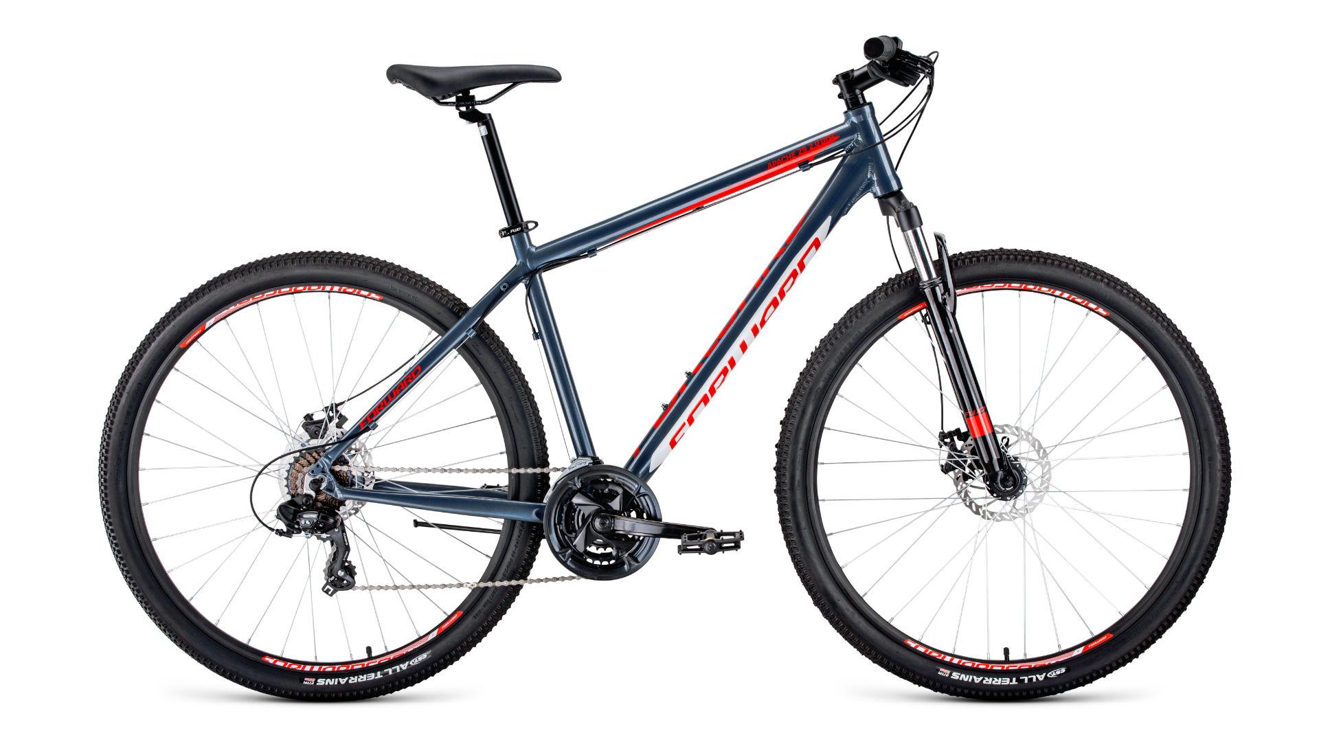 Велосипед FORWARD APACHE 29 2.0 disc (2020) серый 17\