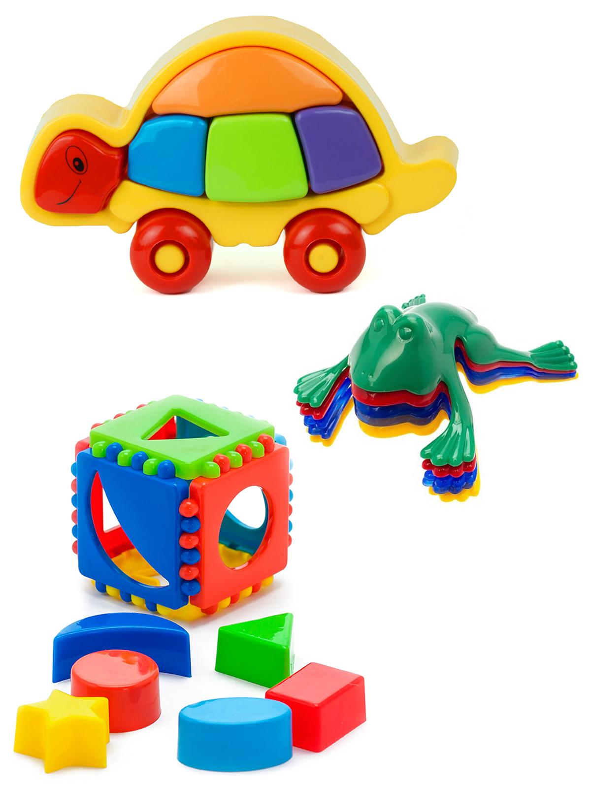 Купить Развивающие игрушки Karolina Toys Лог. Черепашка+Кубик логический малый Команда КВА №1,