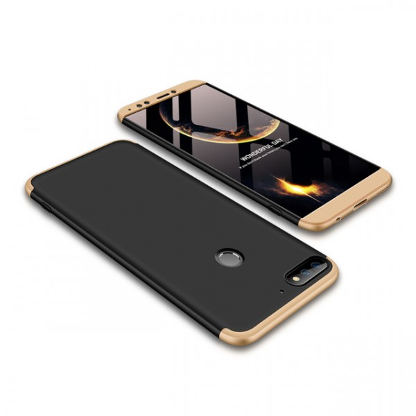 Чехол GKK LikGus для Huawei Y7 Prime (2018)/Honor 7C pro Black/Gold