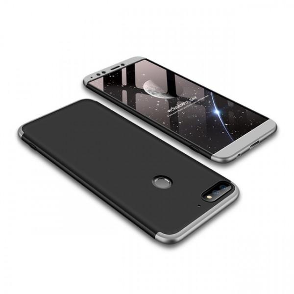 Чехол GKK LikGus для Huawei Y7 Prime (2018)/Honor 7C pro Black/Silver