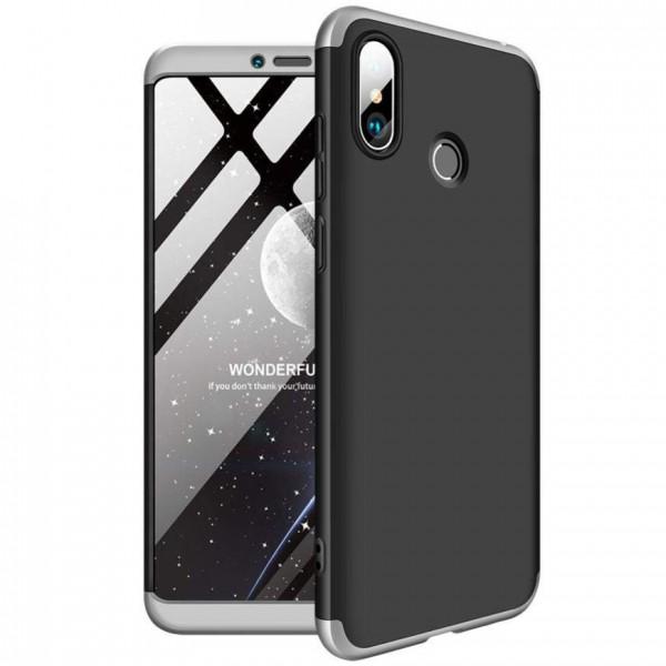 Чехол GKK LikGus для Xiaomi Mi Max 3 Black/Silver