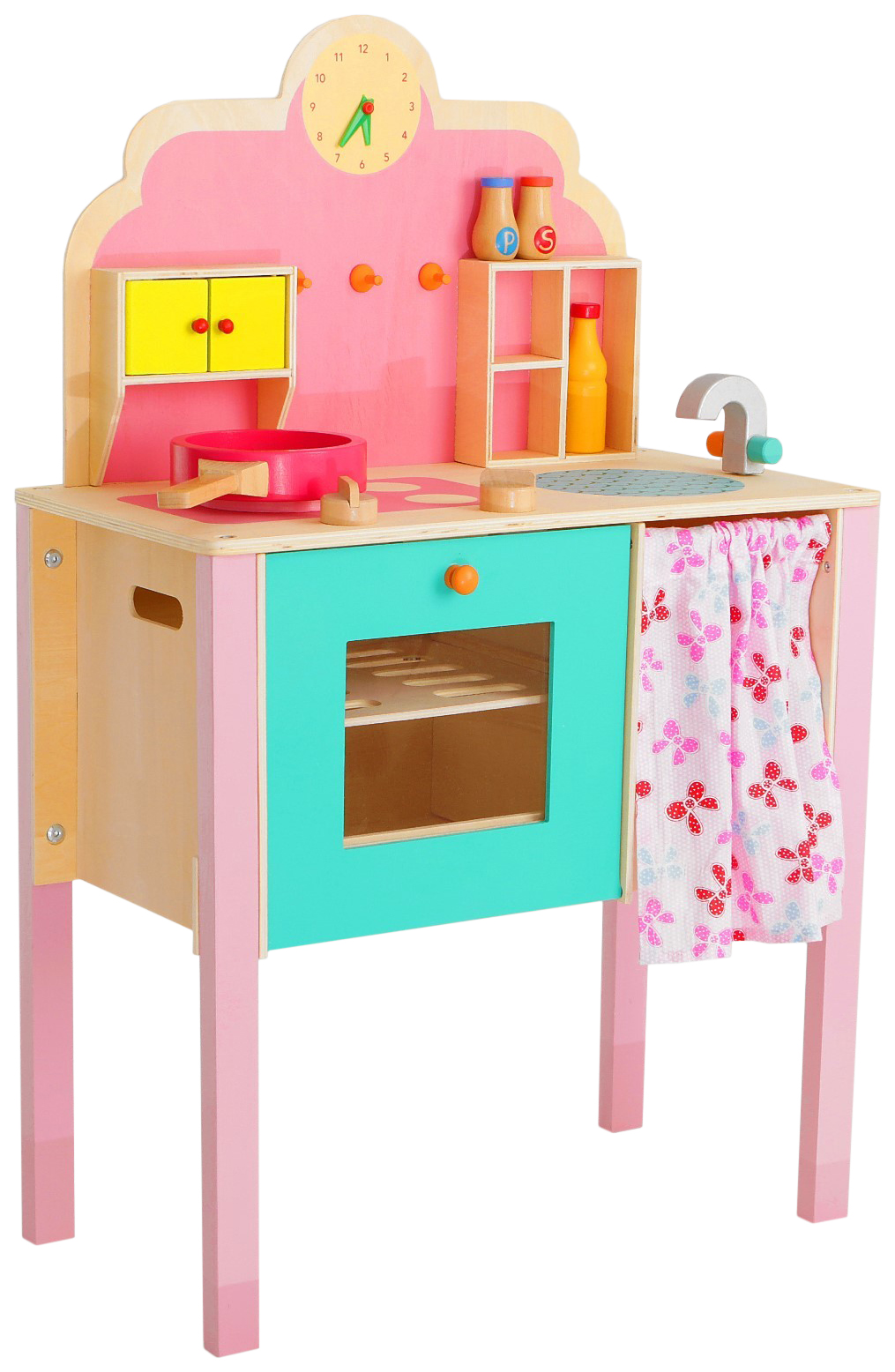 Купить Игровой набор Моя первая кухня , деревянная посуда в наборе Sima-Land, Детская кухня