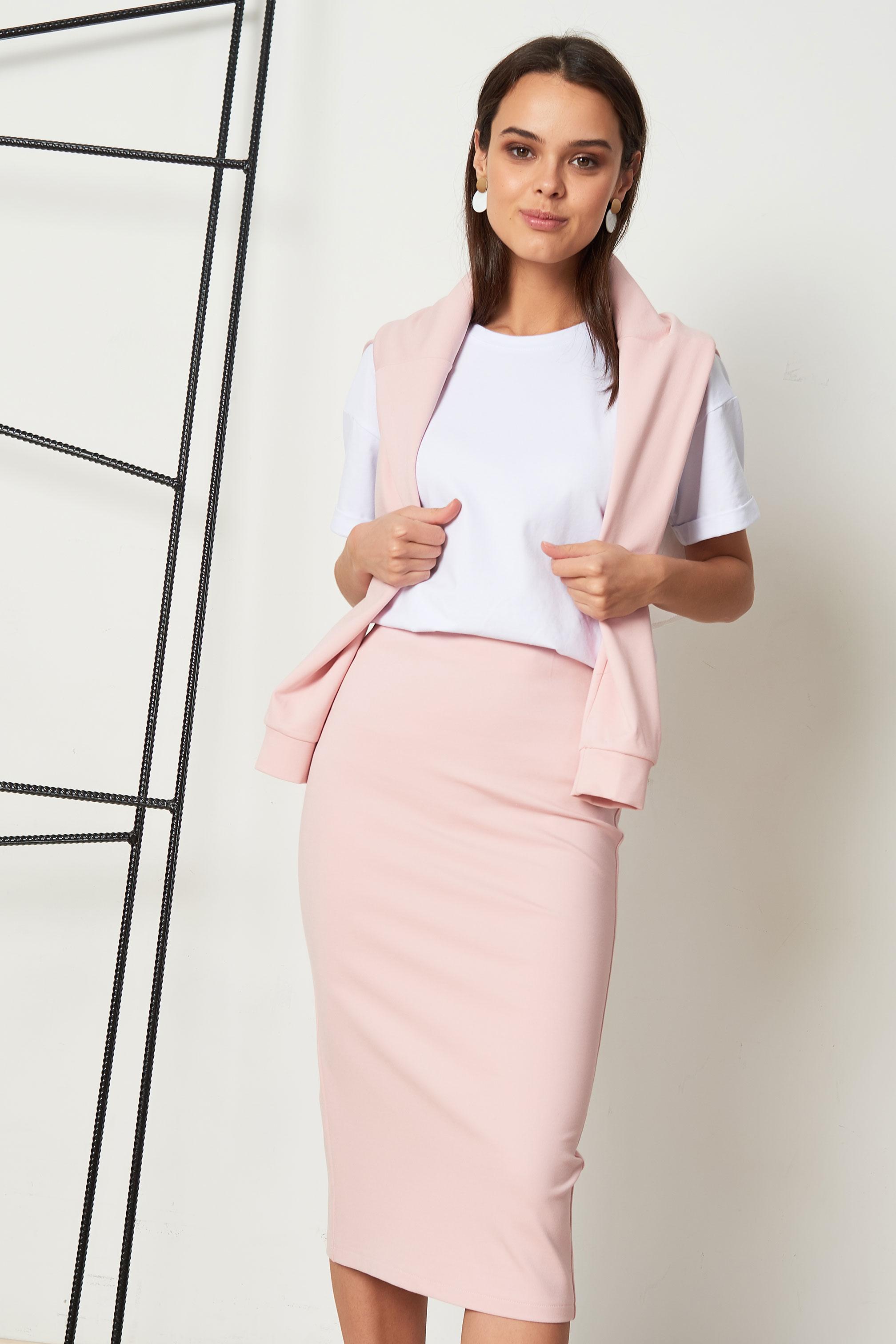 Юбка женская Viaville Лолита розовая 48 RU фото